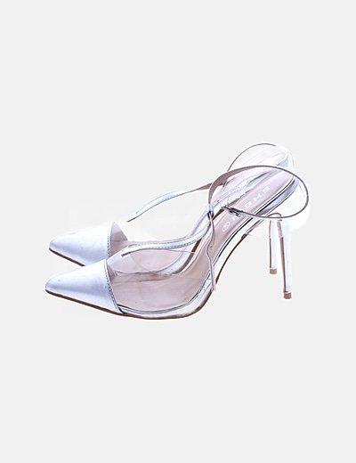 Zapato tacón plateado