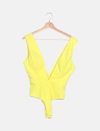 Body amarillo sin mangas