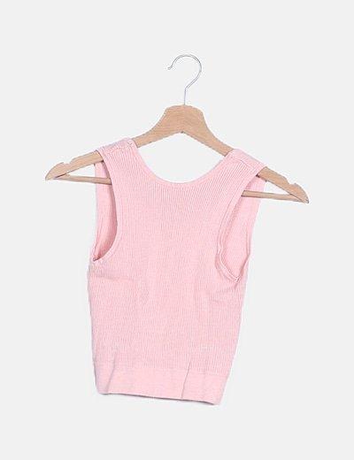 Crop top canale rosa