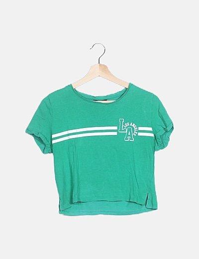 Camiseta crop verde