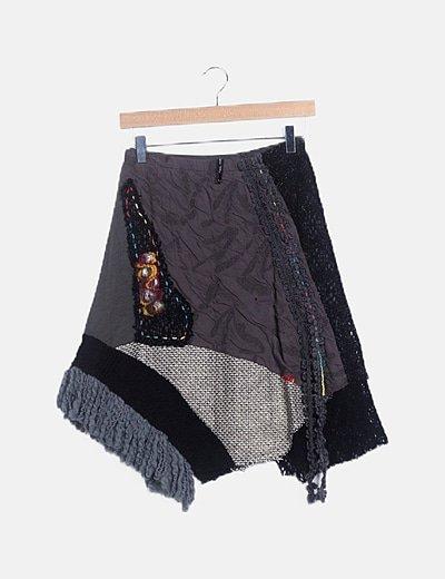 Falda estampado multicolor