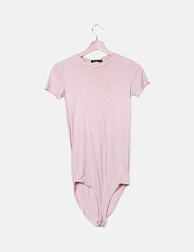 Body rosa con glitter
