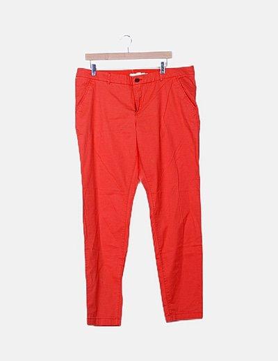 Pantalón naranja flúor