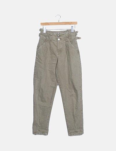 Jeans denim verde