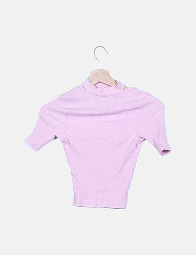 Top choker canale rosa