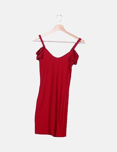 Vestido tirantes rojo