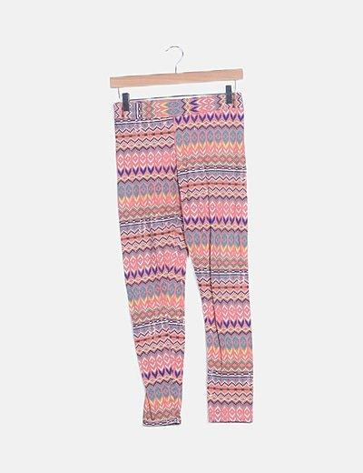 Legging étnico multicolor