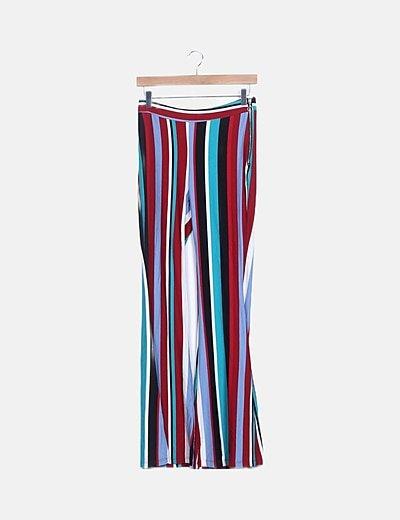 Pantalón multicolor boot cut