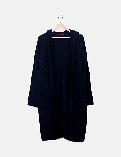Cardigan tricot gris marengo