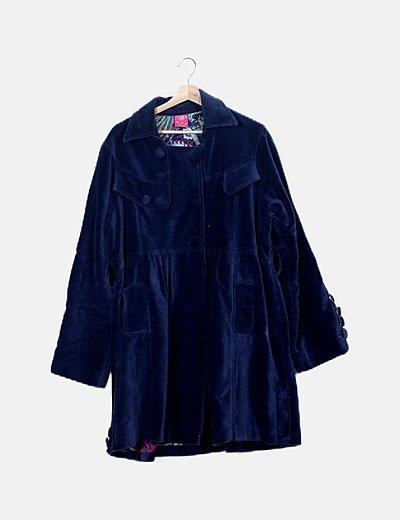 Abrigo azul velvet