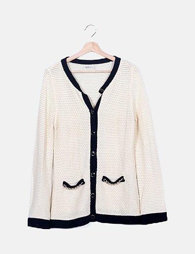 Cardigan tricot beige