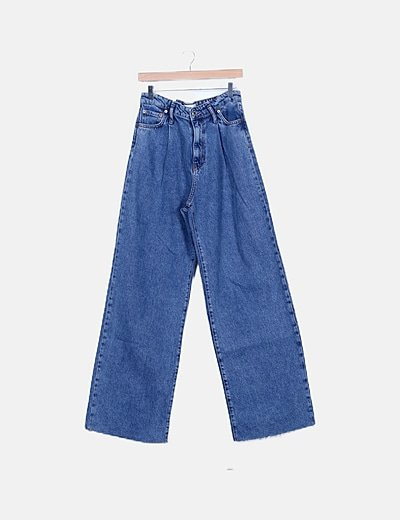 Denim tapered cropped