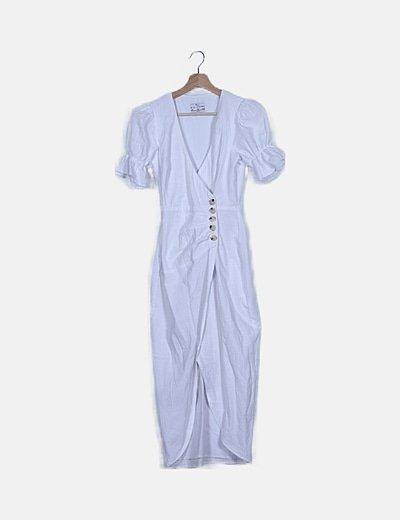 Vestido blanco abotonado