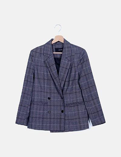 Conjunto blazer y pantalón multicolor