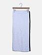 Maxi falda blanca banda lateral Zara