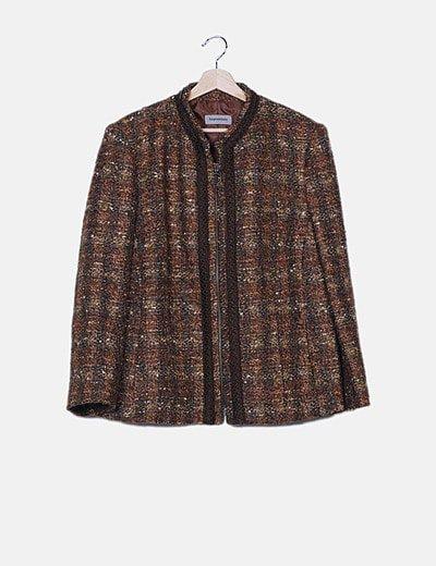 Abrigo marrón punto rizado