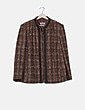 Abrigo marrón punto rizado Impressioni