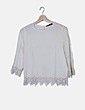 Blusa cruda detalle crochet Zara