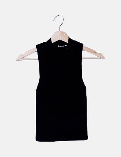 Blusa tricot negra