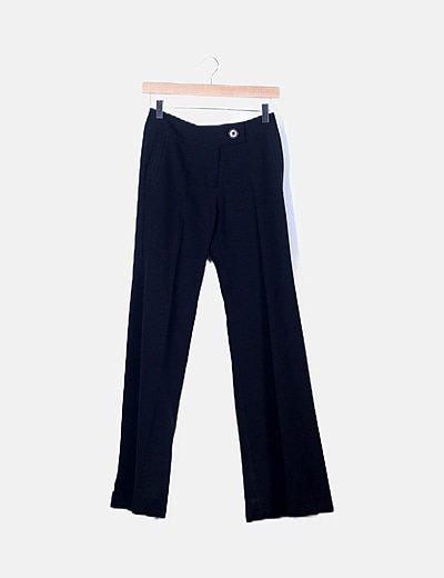 Pantalón sastre negro boot cut