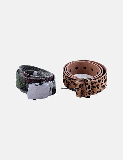 Conjunto de cinturones estampados