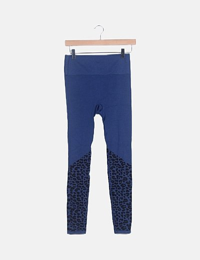 Legging deportivo azul animal print