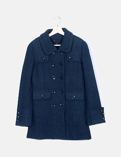 Abrigo verde de lana