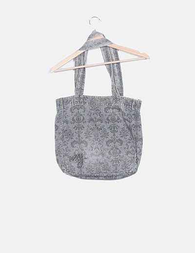 Totebag denim gris