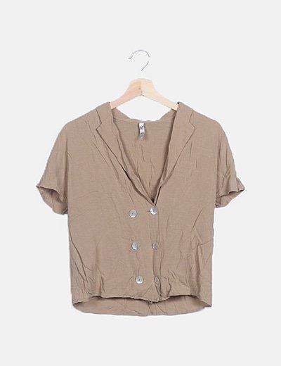 Blusa camel botones