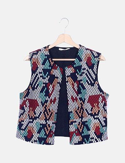 Chaleco tweed multicolor