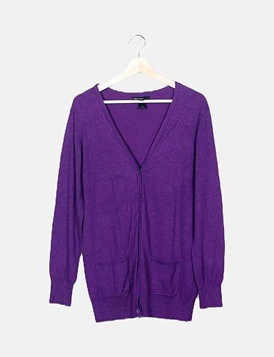 Chaqueta tricot morada