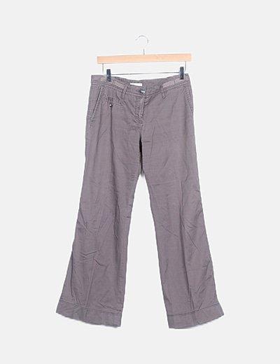 Pantalón gris perla boot cut