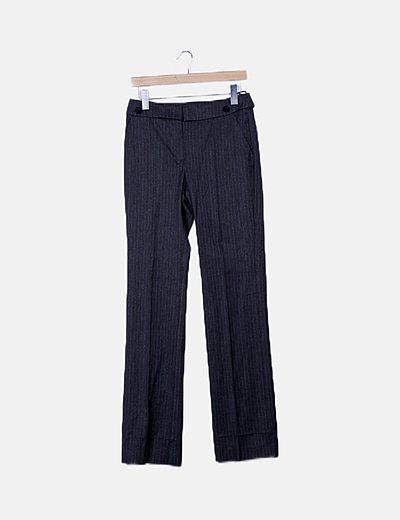 Pantalón recto bicolor de rayas