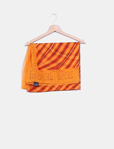 Pañuelo rayas naranjas