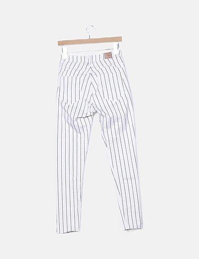Bershka Pantalon Denim Bicolor De Rayas Descuento 89 Micolet