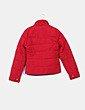 Chaquetón plumas rojo, detalle bolsillos Green Coast