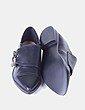 Zapato negro de punta con hebillas Marypaz