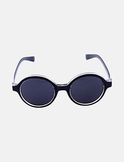 Gafas de sol montura redonda negra