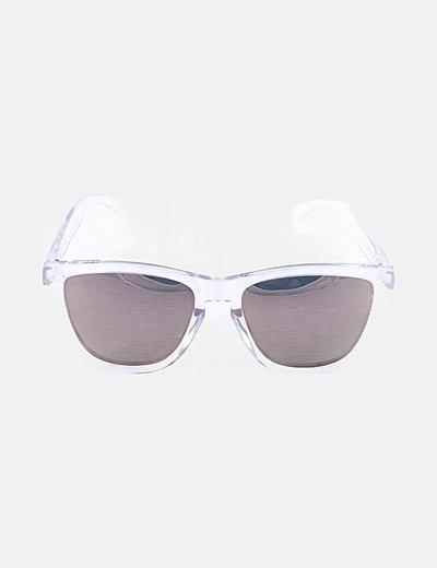 Gafas de sol montura transparente cristal espejo