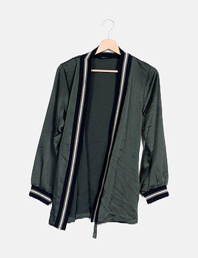 Kimono fluido verde