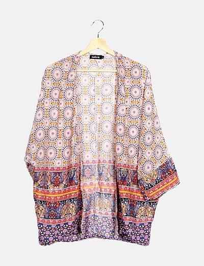 Kimono étnico multicolor