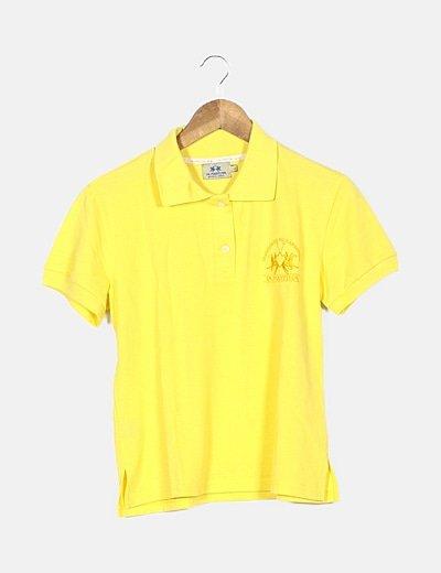Polo amarillo logo bordado