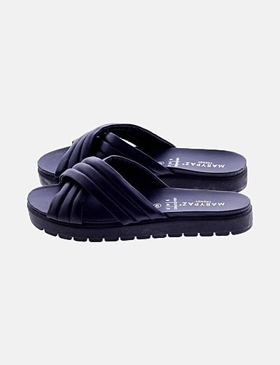 Sandalia pala negra polipiel