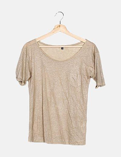 Camiseta crema lurex