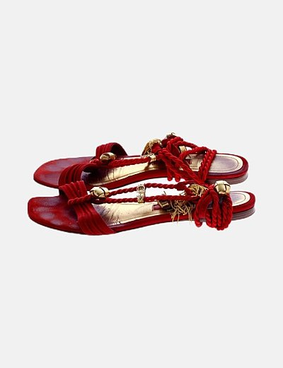 Sandalia roja lace up