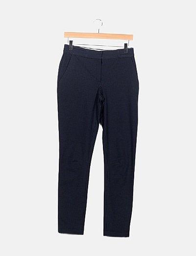 Pantalón bicolor cuadros vichy