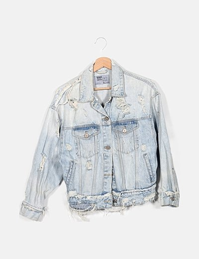 Chaqueta denim azul ripped