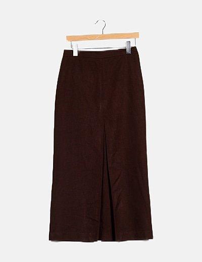 Maxi falda marrón