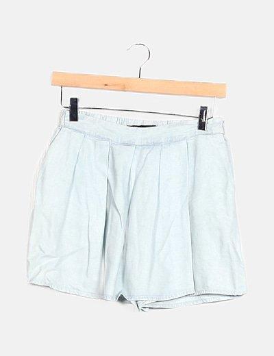 Falda pantalón azul claro