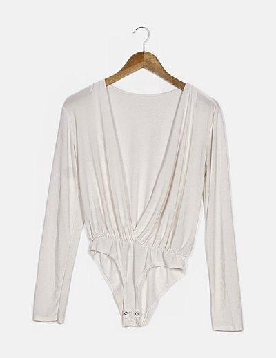 Body blanco manga larga